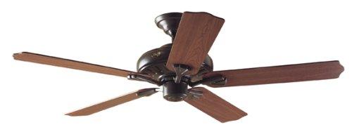 Hunter 23688 Royal Oak 60-Inch New-Bronze Ceiling Fan with 5 Dark-Cherry/Medium-Oak Blades and Remote Control