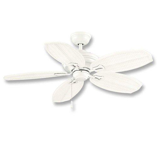 Hampton Bay Palm Beach Ii 48 In. Outdoor White Ceiling Fan