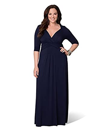 Desert Rain Maxi Dress (5x, In the Navy)