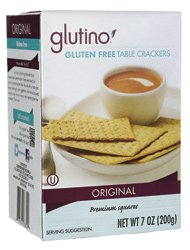 Glutino Table Crackers 7 oz. (Pack of 12)