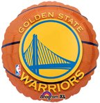"Anagram International Golden State Warriors Flat Party Balloons, 18"", Multicolor"