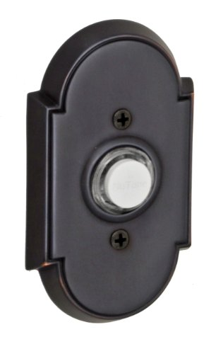 Fusion Hardware BEL-E8-ORB Decorative Collection Tarvos Doorbell, Oil Rubbed Bronze, 1-Pack