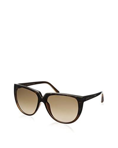 Valentino Women's V603S Sunglasses, Havana, Gold