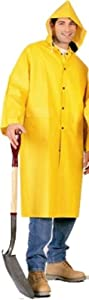 PVC Knee Length Yellow Raincoat, Size X-large