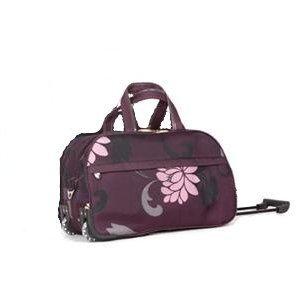 Womens Plum 25 Twin Handle Wheeled Holdall Weekend Bag Maternity Bag Hospital Bag Baby Bag Ideal Travel Flight Bag Holidayschool College Sport Gym Bag