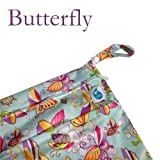 Cheeky Wipes Double Wetbag, small, Butterflies