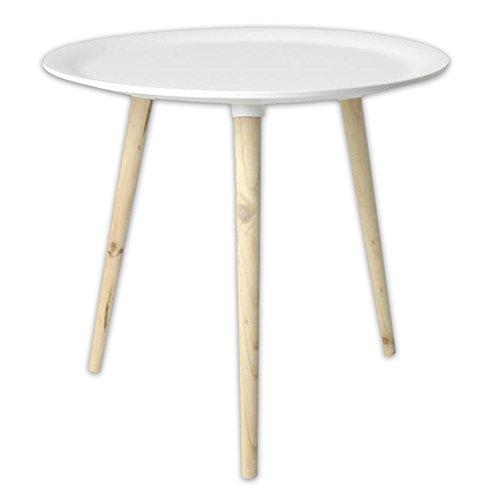 Moderner-Tisch-im-Retro-Stil-aus-Kiefernholz--38-cm--48-cm-in-schwarz-weiss-wei--48