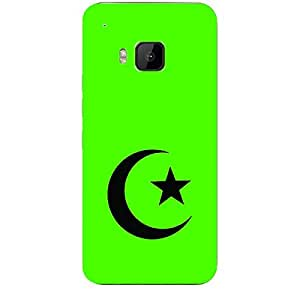 """Skin4gadgets Islam Symbol """"Crescent Moon and Star"""" on English Pastel Color-Green Phone Skin for HTC ONE M9"""