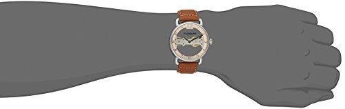 STUHRLING ORIGINAL Brücke Herren Automatik Uhr mit Rose Gold Zifferblatt Analog-Anzeige und braunem Lederband 976.02 5