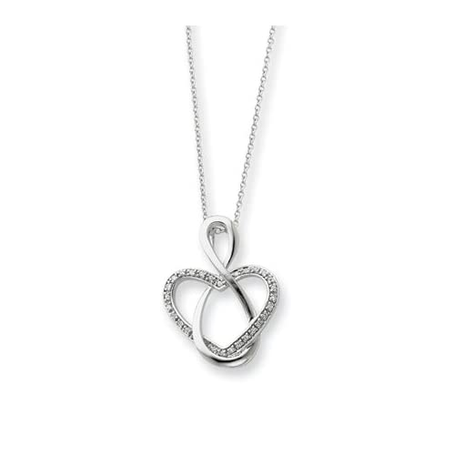 Lifetime Friend, Heart Necklace in Silver