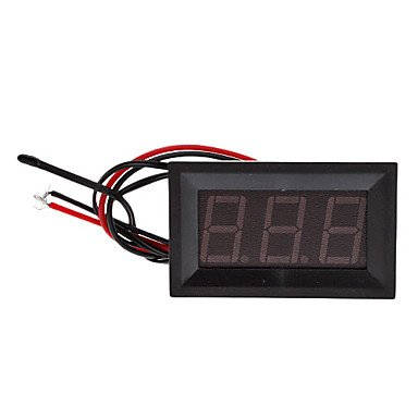 """Commoon T27 0.56"""" Led 3-Digit Direct-Current Thermometer With Fine Tuning (Black, Dc 4.5~28V)"""