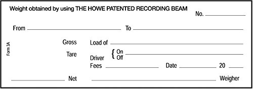 Truck Scale Weigh Tickets Carbon for Howe Mechanical Truck Scales 500 Pack (Scale Tickets compare prices)