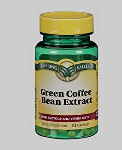 Spring Valley Green Coffee Bean Extract - Dietary Supplement 30 Capsules (Single Bottle)