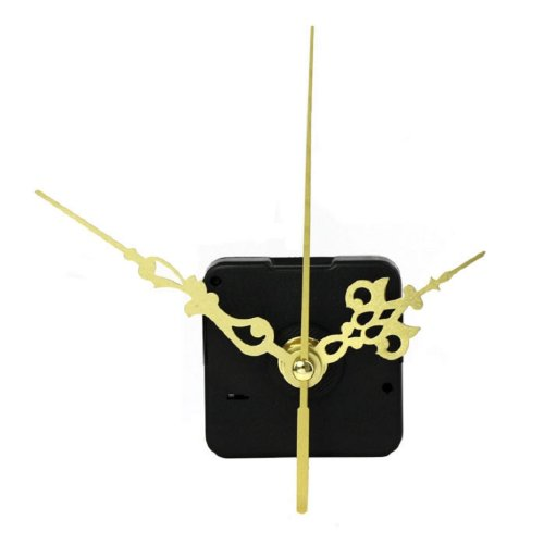 Amjimshop Vovotrade(Tm) 2014 Hot Sell Functional Hot Quartz Clock Movement Mechanism Diy Repair Parts Gold + Hands