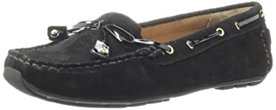 Clarks Women's Dunbar Cruiser Loafer,Black,5 M US