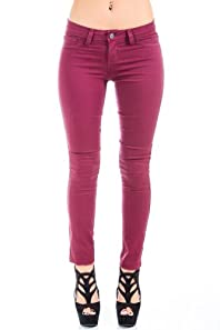 Cello Jeans Non-Riveted Jeans in Plum