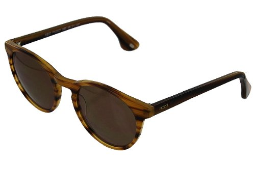 Women's Fossil Reid Brown Stripe Sunglasses