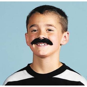 Self Adhesive Mustaches Set - Fake Costume Halloween - 3 Count (Packs of 12)