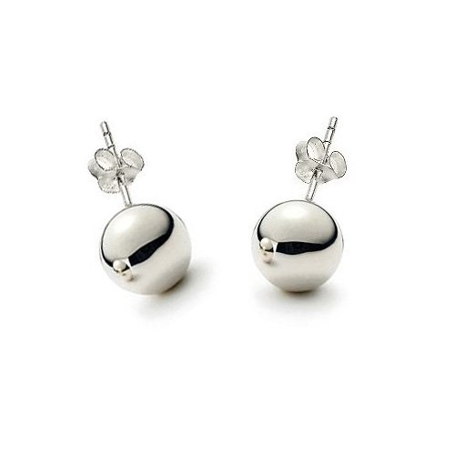 Sterling Silver 4mm High Polished Bead Ball Stud Earrings