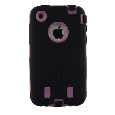 OtterBox Defender Series Case for iPhone 3G/3GS (Black/Pink) (Bulk Packaged)