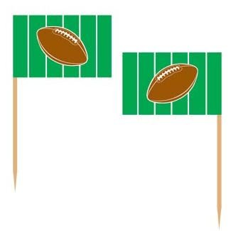 Football Appetizer Cake Cupcakes Food Picks Box of 50 - Super Bowl NFL Party (Football Party Picks compare prices)