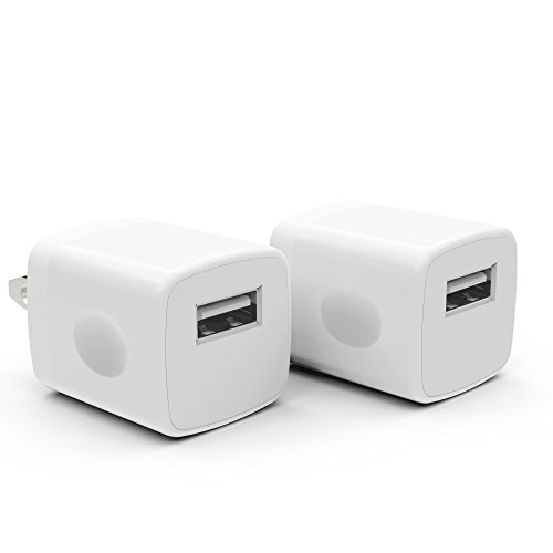 2 Pack PowerJive® USB AC Universal Power Home Wall Travel Charger Adapter for Apple iPhone 3 4 4S 5 5c 5s 6 Plus iPod Touch Nano (White)