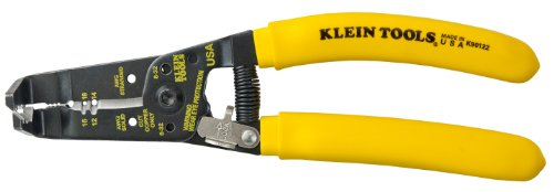 Klein K90-12/2 Klein-Kurve Bent Nose NM Romex Stripper Yellow 7 3/8-Inches