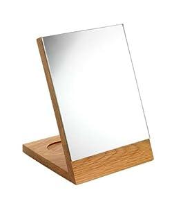 Croydex kingston miroir chevalet bois clair for Miroir chevalet