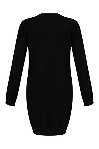 Ladies-Women-Christmas-Jumper-Sweater-XMAS-Snowman-Long-Oversize-Knitwear-Top