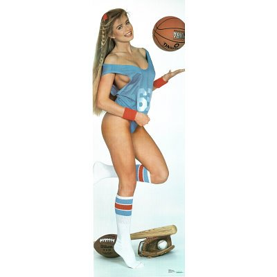 80s campy pin up blonde with sports equipment game time photo 80s campy pin up blonde with sports equipment game time photo print thecheapjerseys Images