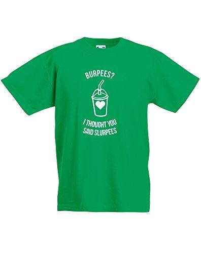 burpees-i-thought-you-said-slurpees-enfant-t-shirt-imprime-vert-blanc-12-13-ans