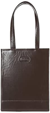 Leatherbay London Leather Tote,Dark Brown,one size