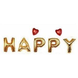 幸福風船!! HAPPY 風船 ハンドポンプ付 (空気入れ) ハッピーバースデー 誕生日 クリスマス 年末年始 イベント パーティー 二次会 飾り