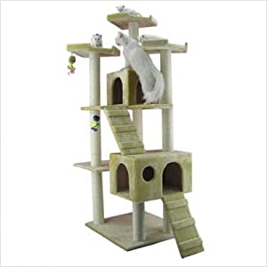 Cat Tree, Cat climbing furniture, Beige