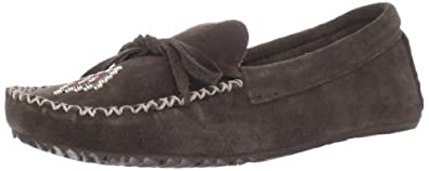Manitobah Mukluks Women's Canoe Moccasin Suede Moccasin,Chocolate,11 M US