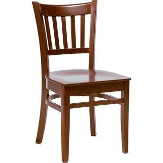 Winware Wooden Side Chair Walnut Finish