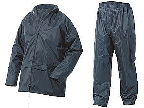Small Waterproof Jacket & Trousers Set Navy Blue