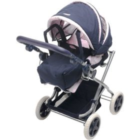 Corolle Les Classiques Doll Accessories (Navy Blue And Pink Carriage)