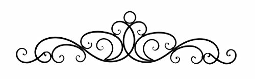 Antique Bronze Finish Scroll Wall Hanging Door Pediment (Over Door Decor compare prices)