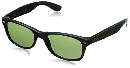 Ray-Ban 0RB2132 Square Sunglasses, Black Green & Top Green, 52 eye size