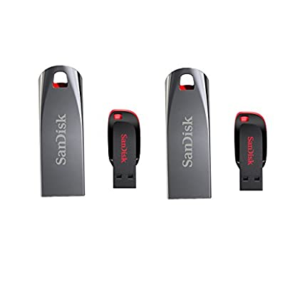 Sandisk 8gb Cruzer Force Metal Pendrive 2pcs And 8gb Cruzer Blade Pendrive 2pcs Combo of 4pcs