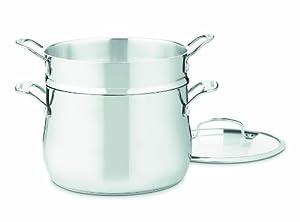 Cuisinart 44-22 Contour Stainless 6-Quart, 3-Piece Pasta Pot