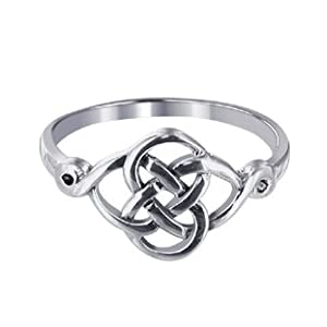 ltic knot band polished sterling silver ring