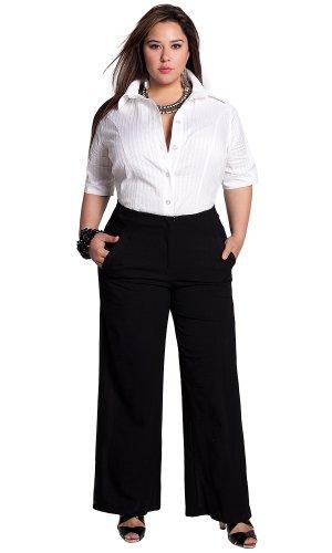 Deals IGIGI by Yuliya Raquel Plus Size Karina Wide Leg Pants