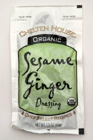 Chelten House Organic Sesame Ginger Dressing, 1.5-Ounce Single Serve Pouches (Pack of 60)