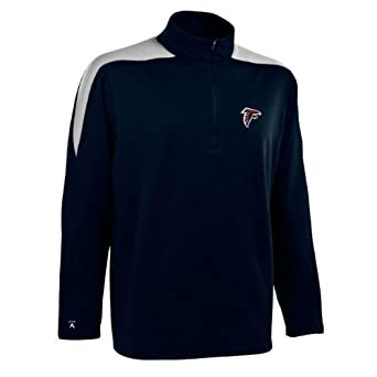 NFL Mens Atlanta Falcons 1 2 Zip Jersey Pullover by Antigua