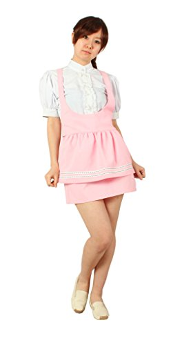 [Milica Books Anna Miller's waitress uniform pink Cosplay Costume Size L] (Anna Costume Ideas)