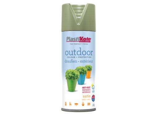 Plasti-kote 18102 400ml Outdoor Satin Spray - Everglade