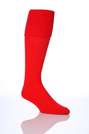 Kids 1 Pair Peter Shilton Pro Action Football Socks - Red