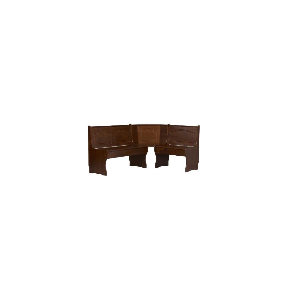 Fantastic Linon Chelsea Corner Breakfast Nook Bench Walnut Finish On Pdpeps Interior Chair Design Pdpepsorg